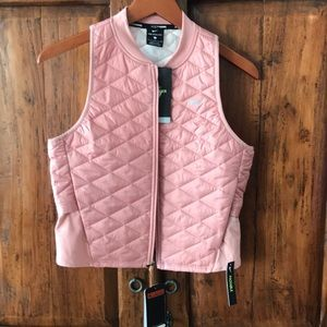 NWT NIKE AEROLAYER  packable vest , pink small